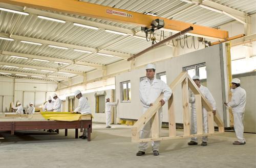 Drewniane domy z fabryki